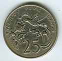 Jamaican 1969 - 25 cent coin